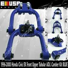 Front Upper Tubular ADJ. Camber Kit BLUE1996 1997 1998 1999 2000 Honda Civic EK