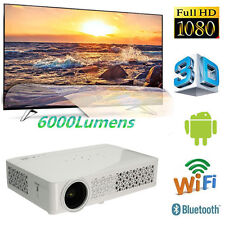 6000Lumens Android DLP 4K Wifi 3D 1080P Home Theater Projector Video Cinema HDMI