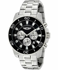 I By Invicta Men's 43619-001 Chronograph Stainless Steel Black Dial Watch