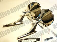 VINTAGE GM ROUND CHROME DOOR MIRRORS OLDS PONTIAC BUICK CAMARO CHEVELLE FIREBIRD