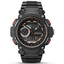 SEKONDA Digital Dual Time Watch Black 1161