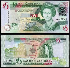 Los Estados del Caribe Oriental 5 dólares (P47) (2008) UNC QEII