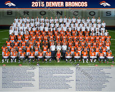 2015 2016 DENVER BRONCOS SUPER BOWL 50 CHAMPIONS 8X10 TEAM PHOTO