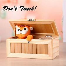 Funny Lovely Wooden Useless Box Leave Me Alone Don't Touch Tiger Xmas Gift Toys