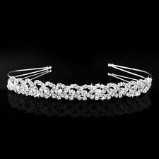 Crystal Rhinestone Wedding Bridal Diamante Tiara Headband Hair Band Clasp