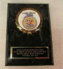 FFA Award Plaque FREE Engraving Ships 2 Day Priority FREE Presentation Pouch