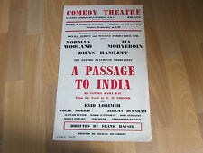 A PASSAGE TO INDIA by Santha Rama Rau / E. M. Forster COMEDY Theatre Poster