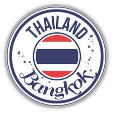 Bangkok City Thailand Grunge Flag Car Bumper Sticker Decal 5'' x 5''