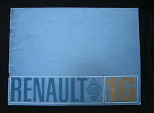 AC490 CATALOGUE DEPLIANT PUB RENAULT 16 31x23 cm 36 pages BON ETAT