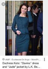 NWT L.K. Bennett Red Davina Dress ASO Duchess Kate Sz 4 $395