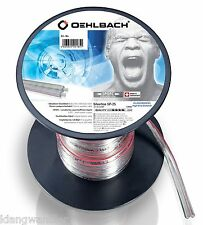 OEHLBACH Silverline SP-25 / 1000 versilbertes Lautsprecher Kabel 2 x 2,5mm / 10m