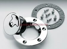 BOLT IN VENTED AIRCRAFT STYLE GAS CAP FOR HARLEY BOBBER NON LOCKING