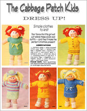 CABBAGE PATCH DOLLS CLOTHES DRESS UP - VINTAGE KNITTING PATTERN