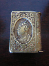 Antique Brass King Edward VII Long Live The King Match Safe