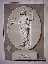 """Original-Kupferstich """"Anubis"""", gestochen von Christophe Guérin, 1791"""