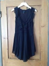 High Claire Campbell black  frill top size 36 (fits size 8-10)