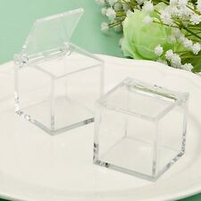 60 Acrylic Cube Shaped Treat Box Baby Shower & Wedding Gift Favors