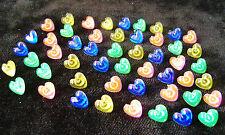 NEW 50 HEART SHAPED PUSH PINS MEMO NOTICE BOARD TACKS SUPREME