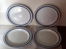 """4 Dansk Bistro Christianshavn Blue 8"""" Rim Soup Bowls Japan"""