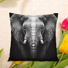 3D Printing Elephant Linen Pillow Case Cushion Cover Home Sofa Decor Mystic