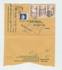 PICTOU ISLAND N.S. straight line Registered cover 1965 Canada various cancels