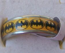 SIZE:10  ~  S/STEEL ~ YELLOW _ BATMAN ~  RING  -- (GREAT_GIFT)
