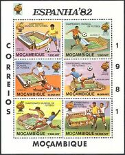 Mozambique 1981 World Cup/Football/Soccer/WC/Games/Sports/Stadiums 6v sht n41560