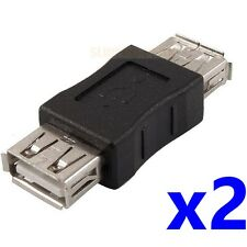 2 pcs USB 2.0 Female to Female Converter Adapter Connector Joiner Coupler Cable