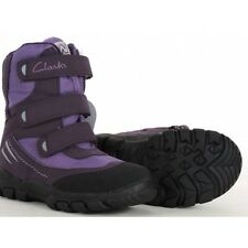 NEW CLARKS SNOW DAY PURPLE BOOTS - UK size 10F