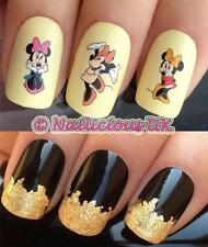 NAIL ART SET #513 MINNIE MOUSE FIGURE WATER TRANSFERS/DECAL/STICKERS & GOLD LEAF