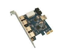 PCIE USB 3.0  - 7 PORTS : (4+1) ports sur fiche + 2 ports sur connecteur 19 pts
