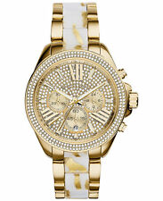 NEW MICHAEL KORS MK6157 LADIES WREN GOLD ZEBRA WATCH - 2 YEAR WARRANTY