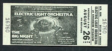 1973 Electric Light Orchestra Unused Full Concert Ticket Anaheim Out Of The Blue