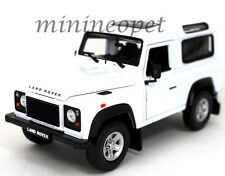 WELLY 22498 LAND ROVER DEFENDER 1/24 DIECAST MODEL CAR WHITE