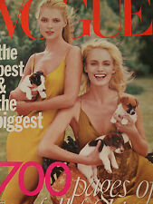 VOGUE MAGAZINE SEPTEMBER 1996 KATE MOSS/AMBER VALLETTA COVER Great Condition!