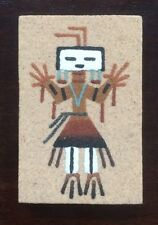 "Vintage Native American Navajo Sand Painting ""Female Yei"" by Teresa Yazzie 3x2"""