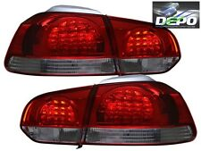 2010-2012 Volkswagen Golf GTI VI LED Red Smoke Tail Lights 4 Pcs DEPO