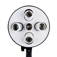 5 in 1 E27 Base Socket Light Lamp Bulb Holder Adapter for Photo Studio Softbox