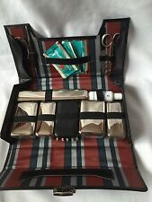Vintage Man Dressing Table Set With Black Leather Case