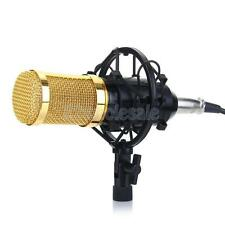 Gold Ribbon Microphone Professional Studio Sound Recording w/ Boom Stand
