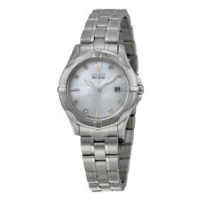 Citizen Blue Mother of Pearl Dial Stainless Steel Diamond Ladies Watch
