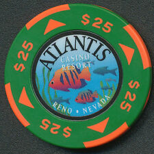 Atlantis Casino Reno 1st Issue $25 Chip 1996 No BJ