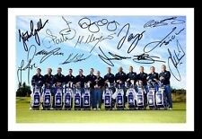 EUROPE 2014 RYDER CUP TEAM AUTOGRAPHED SIGNED & FRAMED PP POSTER PHOTO