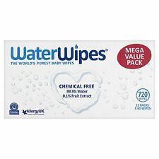 NEW WaterWipes Super Value Box - Pack of 12, Total 720 Baby Wipes