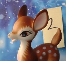 """Vintage Plastic Bambi Style Fawn Standing Deer 6""""T Christmas Decor 2 of 5 Japan"""