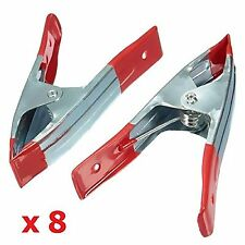 """8 x 6"""" 14cm METAL SPRING CLAMPS CLIP GRIP HOLD RUBBER COATED HANDLES DIY CRAFT"""