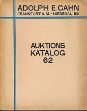 HN CAHN Frankfurt Auktions 62 1929 Munzen des Mittelalters und der Neuzeit