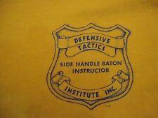 Vintage Defensive Tactics Side Handle Baton Instructor Institute Inc. T Shirt L