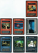 STAR WARS CCG ENDOR SET OF 7 DARK SIDE COMMON + UNCOMMON FOILS