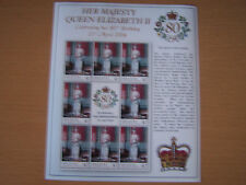 BEQUIA,2006,,QE11,80TH BIRTHDAY,SHEETLET OF 8 ,$2 VALUE STAMPS,EXCELLENT.